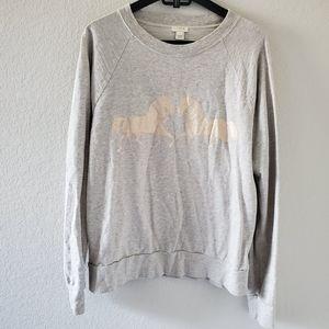 J Crew twin horse print sweatshirt